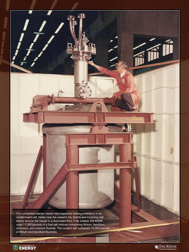 MSRE Reactor in Craddle