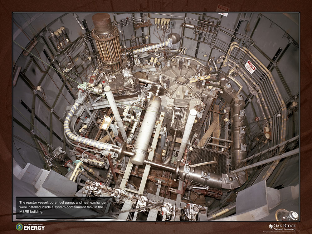 MSRE Reactor in Chamber