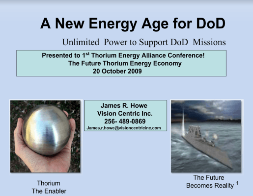 A New Energy Age for DoD James Howe TEAC1