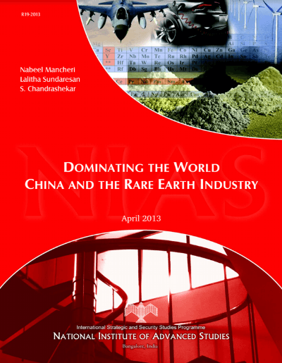 China rare earth strategy Highlight 1-15-14