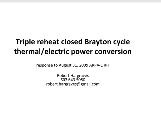 Closed Brayton Power Conversion Hargraves