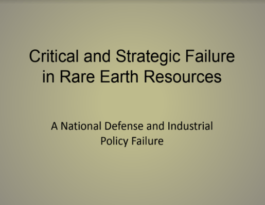 Failure in Rare Earths Resources Kennedy