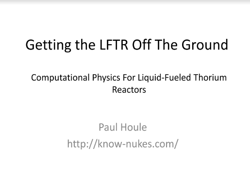 Getting the LFTR Off the Ground Houle TEAC1