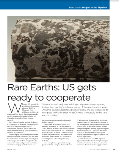 Ind M Rare Earths US gets ready