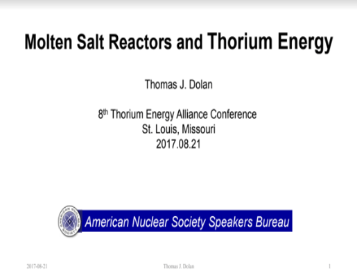 MSR and Thorium Energy TEAC8 Dolan