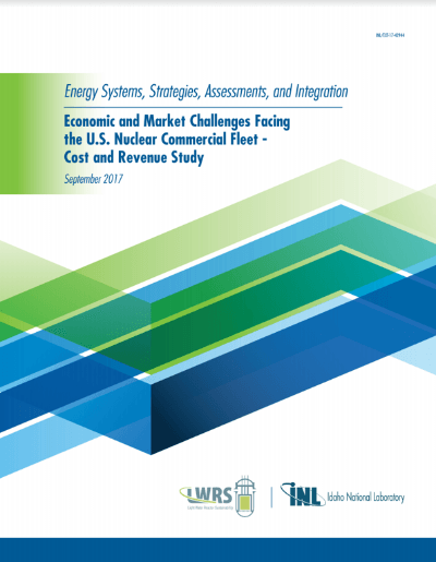 Market Challenges for Nuclear Fleet-ESSAI Study Sept 2017