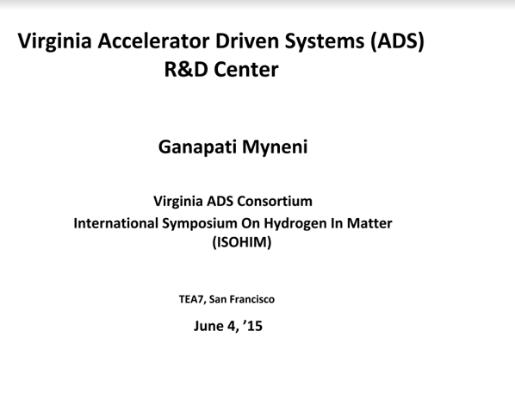 Myneni Accelerator Driven MSR TEAC7