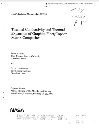 NASA 1666 001 Graphite Composites