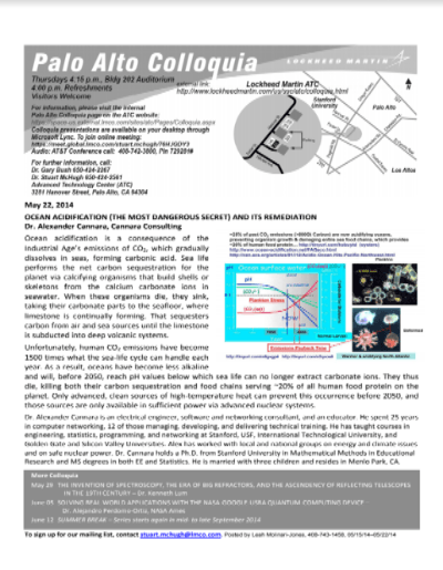 Ocean Acidification Flyer draft hs-1 May 22, 2014