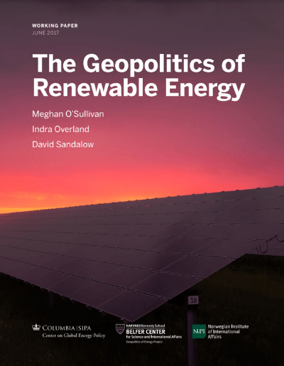 REE & Geopolitics Of Renewables