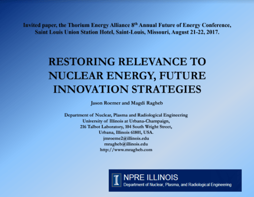 Restoring Relevance to Nuclear Energy Future Innovation Strategies TEAC8