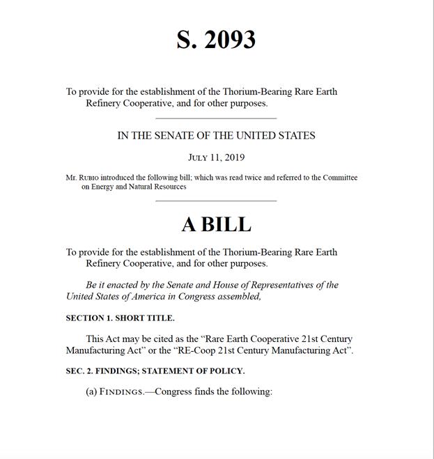 Senate Bill S. 2093 July 11 2019