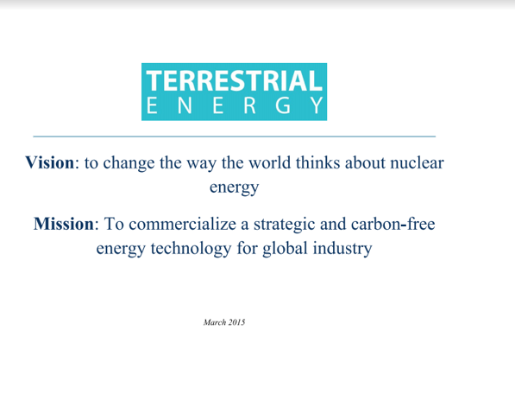 Terrestrial Energy LeBlanc TEAC7