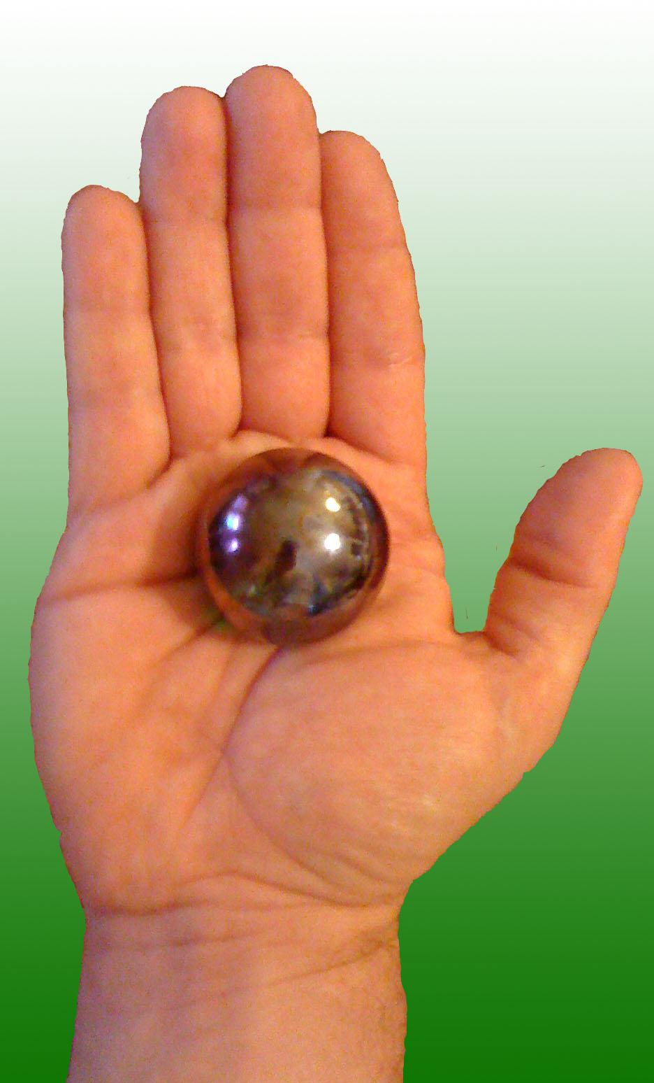 Thorium Ball in Hand