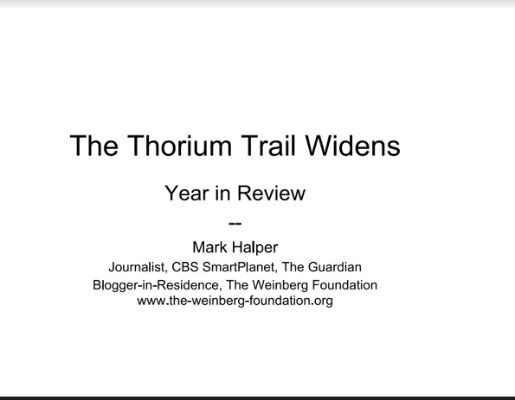 Thorium Year In Review By Halper TEAC5
