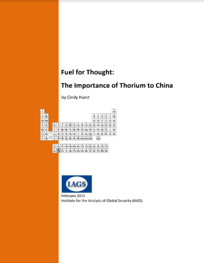 Thorium in China; Cindy Hurst