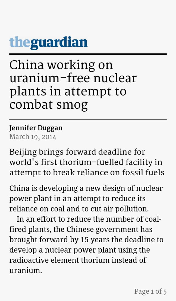 China ramps up Nuclear – Guardian