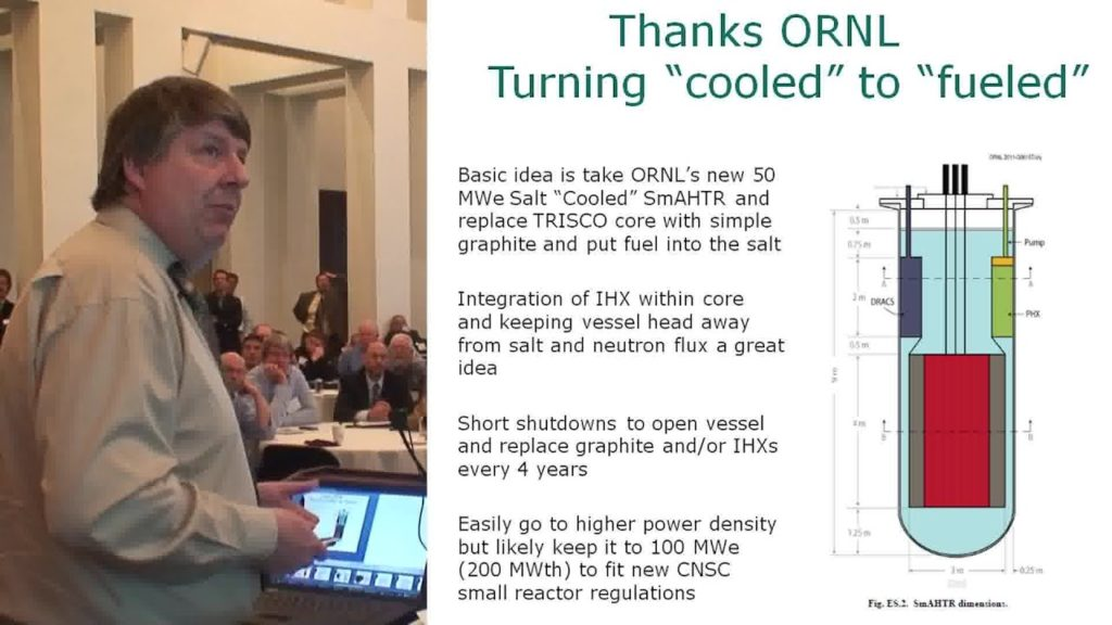 Dr.David LeBlanc – Molten Salt Reactor Designs, Options & Outlook TEAC 4
