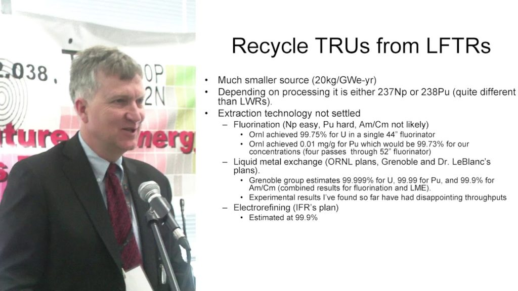 Lars Jorgensen – Using MSR to Minimize Actinide Wastes TEAC 2